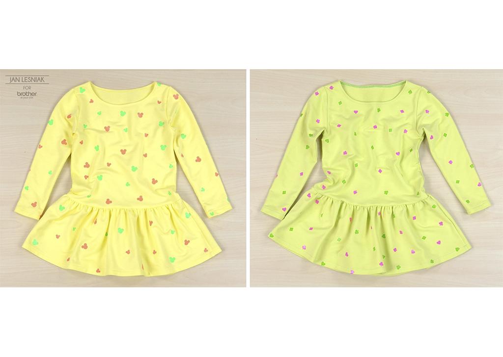 DIY: Wiosenna sukienka dla młodej dziewuszki z nadruczkami