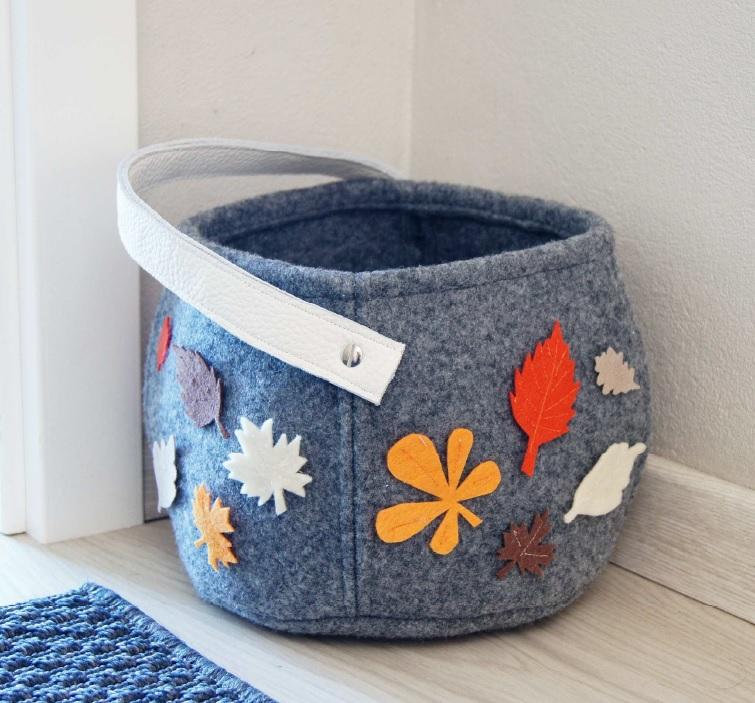 DIY: Jesienny, filcowy kosz