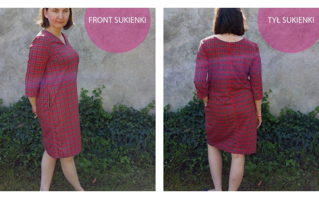 DIY: Przepis na klasyczną, prostą sukienkę w szkocką kratę :)