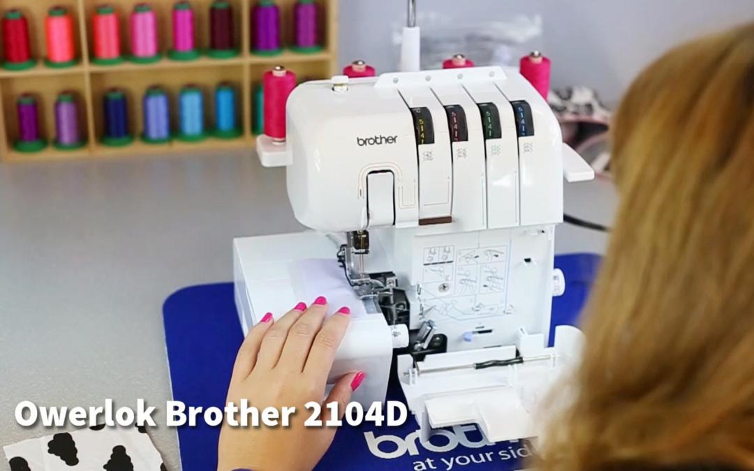 Z kamerą przez szycie – najważniejsze funkcje owerloka Brother 2104D