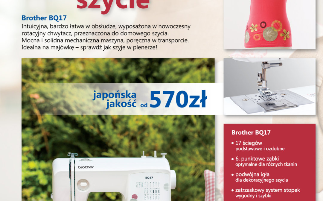 Mollie – maszyna do szycia Brother BQ17