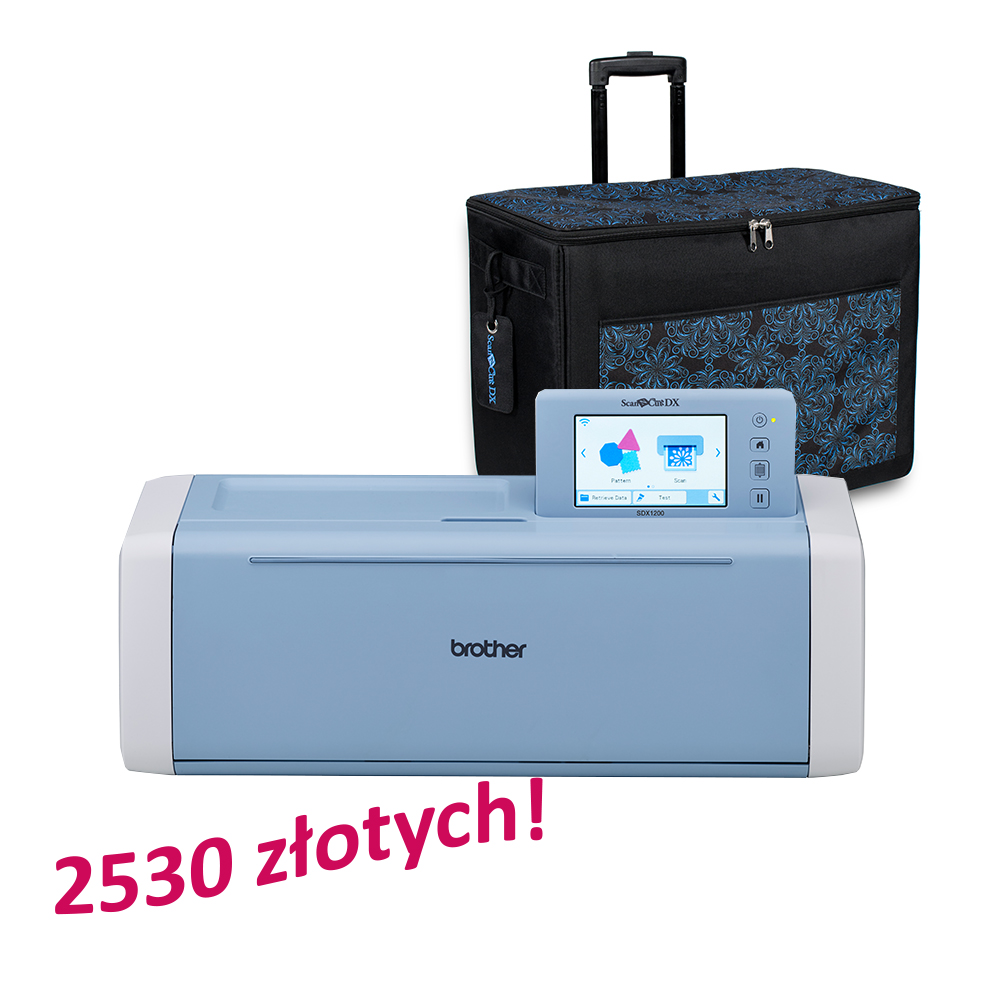 Brother ScanNCut SDX1200 + dedykowana torba ZCADXTOTEB za 2530 zł!